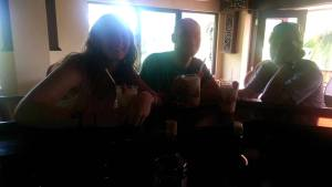 A dark photo, but trust us that those piña coladas looked and tasted delicious!