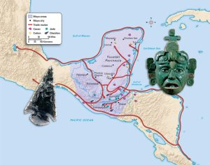 Various trade routes that were in operation in the Classic Maya World (https://mrgrayhistory.wikispaces.com/UNIT+8+-+EARLY+AMERICAS)