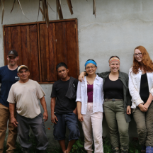 The settlement unit – from left to right: Shawn, Mr. Paquiul, Sylvestro, Johana, Gill and Kristine