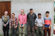 Structure 10 – from left to right: Mira, Megan, Adéla, Doug, Mr. Alfonso and Hinio Jr.