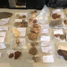 Raw material (rock & mineral) reference collection