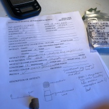Filling out small find forms--this is a weight for fishing