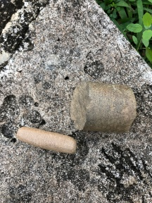Some grinding tools found in habitation debris in settlement excavations