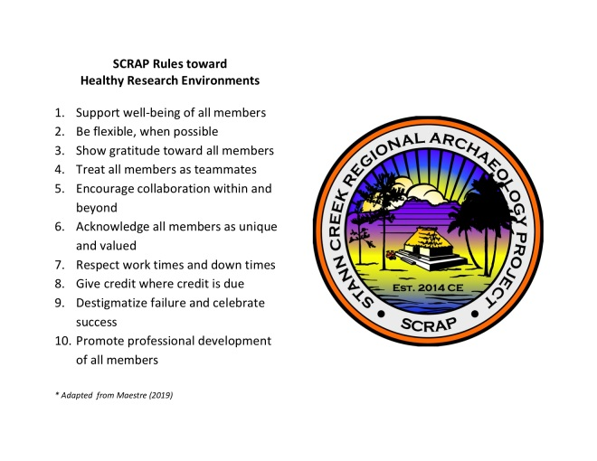 SCRAP Rules Healthy Research Environments