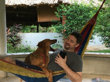 Pic 2: Dave in hammock with Orchid
