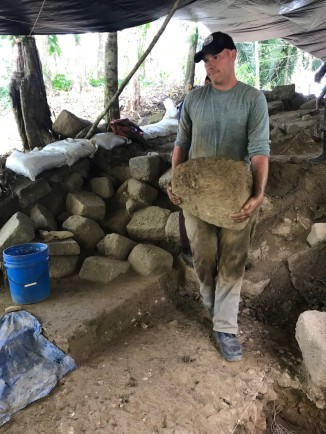 Pulling stone from Structure 1/2